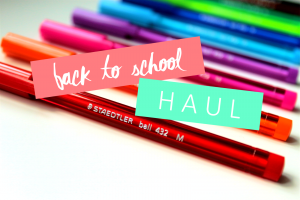 BACK TO SCHOOL : TENUE & WHAT'S IN MY BAG